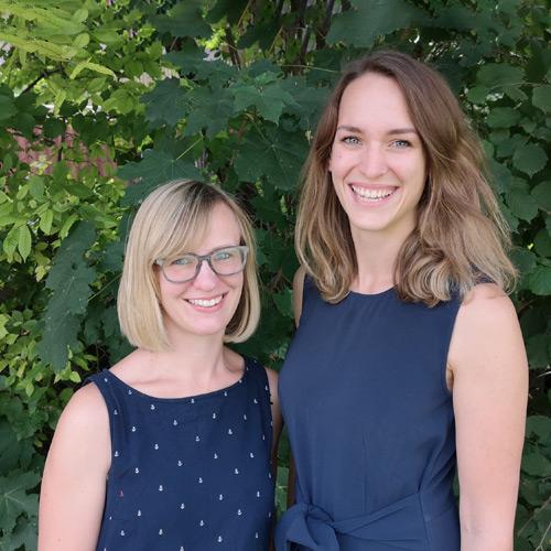 Sozialarbeiterinnen des WHG Stefanie Heinz und Maria Stoiber
