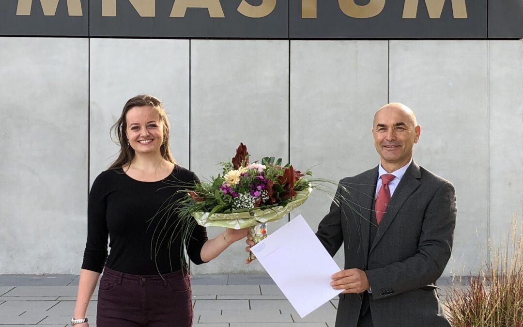 WHG-Schülerin wird Bundessiegerin beim Bundeswettbewerb Fremdsprachen